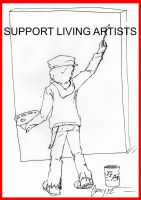 Support Living Artists by KrisOwrey
