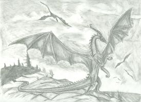 Dragon by the Ocean by BahamutFury82