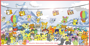 Happy Holiday Friends 2010 by pichu90