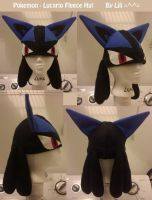 Lucario Fleece Hat by LiliNeko
