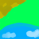 Green Hill Zone Painted by Dan23234