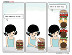chinese cutes -- '' burger tall '' by chinese-cutes