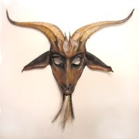 Leather Goat Mask tricolor beard by teonova