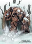 Winter Eternal_STONE-GOLEM by riazkhan