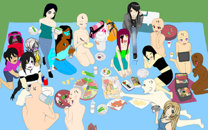 Spring Picnic collab CLOSED by kisshugirl