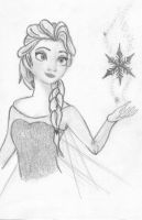 Elsa frozen drawing by LightningChaser