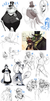 SKETCHDUMP #18 - BEING 19 DOESNT MEAN ART QUALITY by P-cate