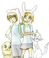 Fionna and Finn by Natsunohuyana