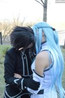 Asuna and Kirito kiss by ToraCosplayers