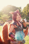 Foxfire Ahri Cosplay - Tell me a secret. by xTouko