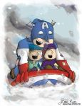 Captain America Sledding by thedustud