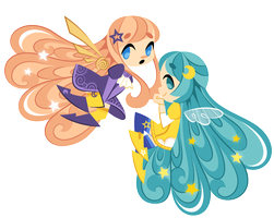 Commission: Aste and Luna by Sprits