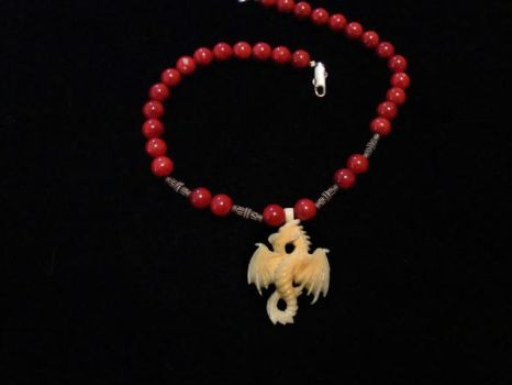 Red Dragon Necklace by NightShrike
