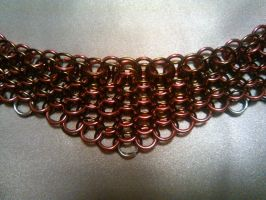 Dragonscale Chainmaille Necklace by unanimatedew
