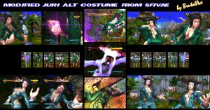 Modified Juri Alt Costume From SFIVAE By BrutalAce by BrutalAce