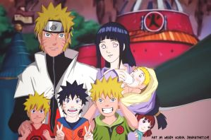 Orange Hokage's Family by WendyUchiha