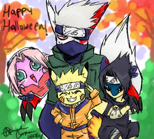 Team7 Pokemon:HappyHalloween by IceCatDemon
