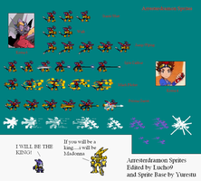 Arresterdramon Sprites Sheet by Lucho9