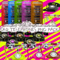 Old Telephones PNG Pack by PartyWithTheStars
