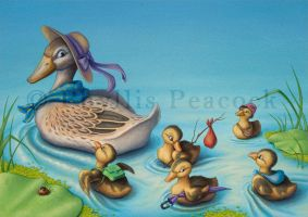 Ducklings on the Move by Red-Clover
