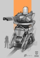 Tactical Warfield- Mobile Turret Concept by Loone-Wolf