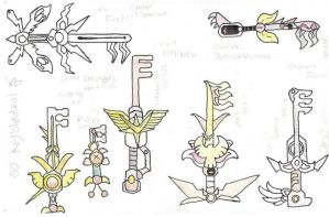 SD keyblades:preview by Kitty-grim-Reaper