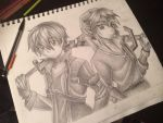 The Two Sword Fighters by Mimibert