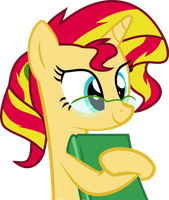Nerd Sunset Shimmer by Elsia-pony