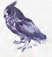 purple owl by RantGoil