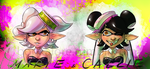 Callie and Marie Splat by Bonka-chan
