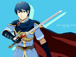 Marth For Moon by seiryuuden