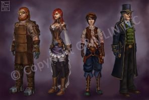 Some steam characters by Sharrak