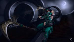 Akali New Art Splash by AdrianWolve