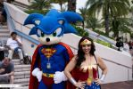 Super Sonic and Wonder Woman Cosplays by Thretlvlmidnite