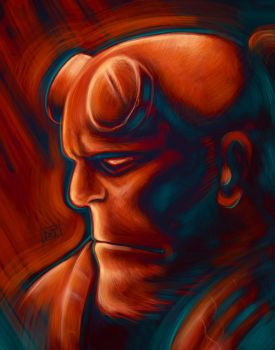 Hellboy by Of-Red-And-Blue
