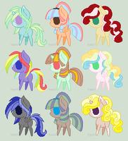 Simple MLP Adoptables by Athene112