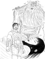 Pewdie - Shadow of the Colossus (Sketch) by XaryenMaelstrom
