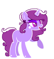 White and Purple Unicorn! by MintyMagic74