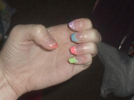 Rainbow Nails by CozplayMania
