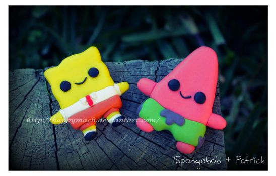 Spongebob and Patrick_Best Buddies by HappyMach