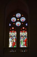 Stained glass window of church by A1Z2E3R
