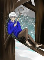 Jack Frost... Sitting in a tree. Hm. by ComicGirl339