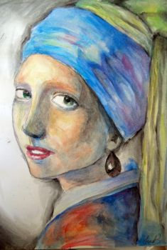 The Girl With the Black Pearl Earring by CutIntoLittleStars