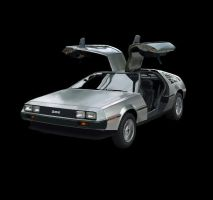 Delorean w00t by bmansnuggles