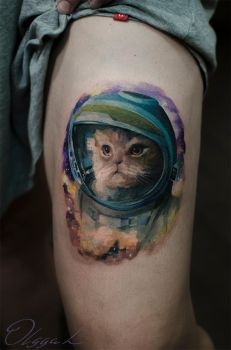 Spacey cat by Olggah