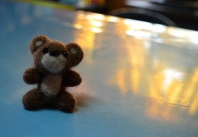 :Needle Felted Bear: by PrePAWSterous