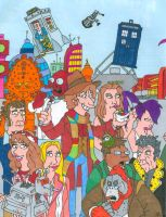 Doctor Who/ Futurama Fourth Doctor (With Color) by iamtherealbender