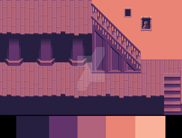 Room Pixel art practice (5 colors) by AviusIcarus