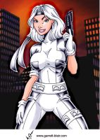 Silver Sable by Garrett Blair by Mythical-Mommy