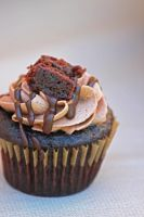 Vegan Brownie Cupcake by Libelula-Soul